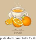 orange, tea, cup 34823534