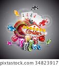 Vector illustration on a casino theme 34823917