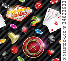 Vector seamless casino pattern illustration 34823933