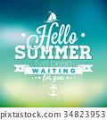 vector, summer, card 34823953