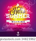vector, summer, vacation 34823962
