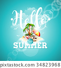 vector, summer, quote 34823968