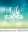 vector, summer, vacation 34823978
