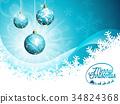 christmas, merry, vector 34824368