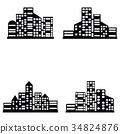 vector black city icons set 34824876