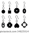 earrings icon set 34825014