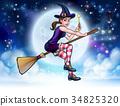 halloween, cartoon, magic 34825320