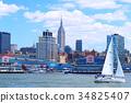 紐約 曼哈頓 哈得遜河 34825407