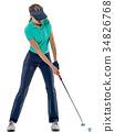 高尔夫 高尔夫球手 抠图 34826768