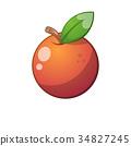 orange fruit icon. Cartoon illustration. 34827245