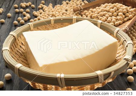 豆腐棉豆腐大豆原料健康豆類傳統食品 34827353