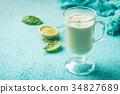Green tea matcha latte 34827689