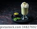 Green tea matcha latte 34827692