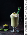 Green tea matcha latte 34827693