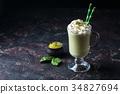 Green tea matcha latte 34827694
