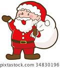 矢量 插图 圣诞老人 34830196