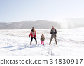 Father and mother with their daughter, playing in 34830917