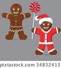 Gingerbread man. set 34832413