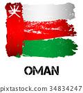 Flag of Kuwait from brush strokes 34834247