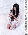 rabbit, white, model 34835162