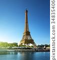 Eiffel tower, Paris. France 34835406
