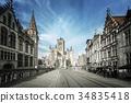 Historic houses in Ghent, Belgium 34835418