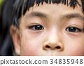 Eyes of little girl 34835948