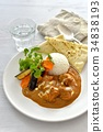 chicken curry, curry, curry and rice 34838193