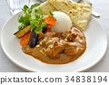 chicken curry, curry, curry and rice 34838194