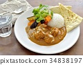 chicken curry, curry, curry and rice 34838197