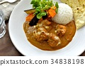 chicken curry, curry, curry and rice 34838198