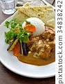 chicken curry, curry, curry and rice 34838242