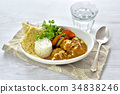 chicken curry, curry, curry and rice 34838246