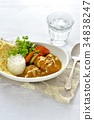 chicken curry, curry, curry and rice 34838247