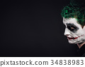 crazy joker face. Halloween 34838983