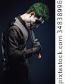 crazy joker face. Halloween 34838996