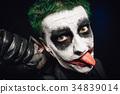 crazy joker face. Halloween 34839014