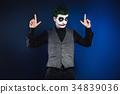 crazy joker face. Halloween 34839036