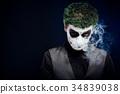 crazy joker face. Halloween 34839038