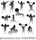 silhouette, workout, training 34839983