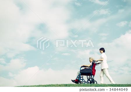 護理護士高級輪椅藍天 34844049