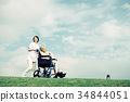 护理医疗护理高级轮椅蓝天 34844051