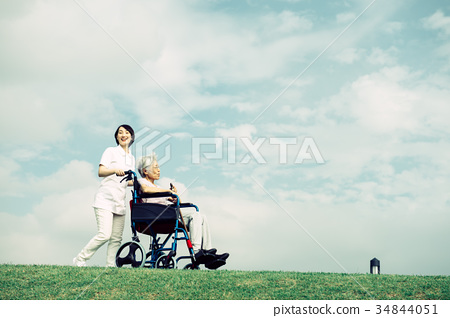 護理醫療護理高級輪椅藍天 34844051