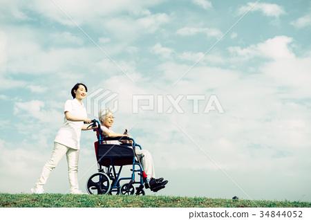 护理医疗护理高级轮椅蓝天 34844052