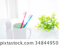 toothbrush, toothpaste, dental care 34844950