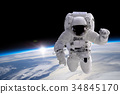 Astronaut at spacewalk 34845170
