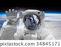 Astronaut at spacewalk 34845171