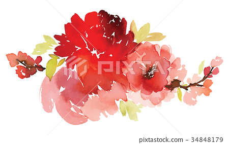 Vector floral illustration for greeting cards 34848179