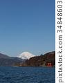 從蘆之湖看到的富士山 34848603