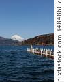 從蘆之湖看到的富士山 34848607